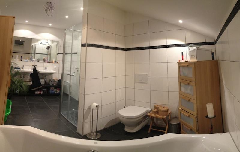 Badezimmer Betondecke: Die fugenlose Dusche trendig und chic ...